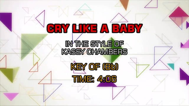 Kasey Chambers - Cry Like A Baby