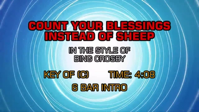 Bing Crosby - Count Your Blessings Instead Of Sheep