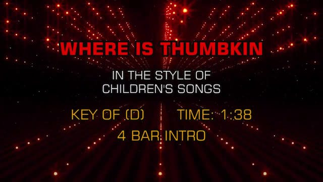 Children's Favorites - Where Is Thumpkin