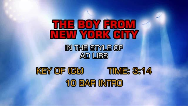 Ad Libs - The Boy From New York City