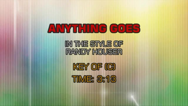 Randy Houser - Anything Goes
