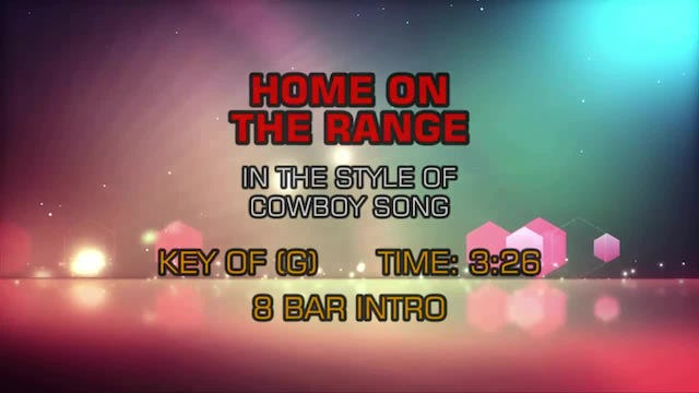Standard - Home On The Range