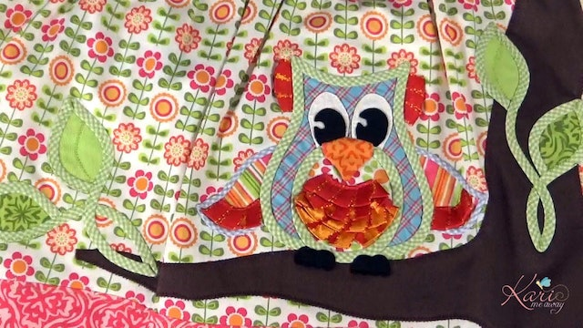 1 of 3 Cutting Designs & Making the Owl Appliqué