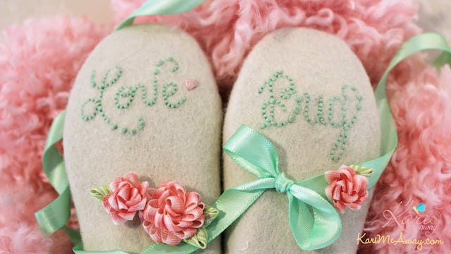 Close-up Look at the Love Bug Booties