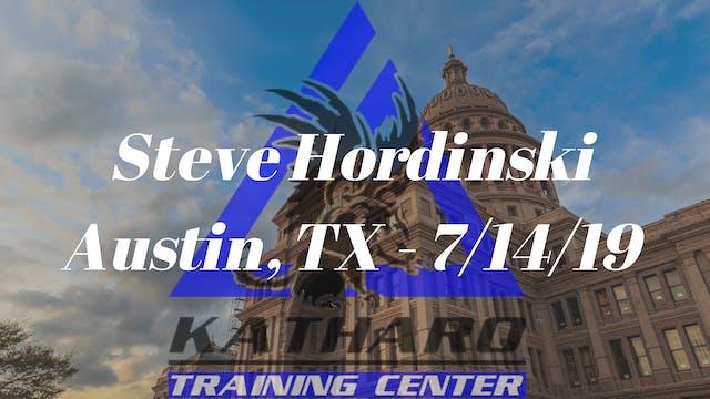 Steve Hordinski Seminar