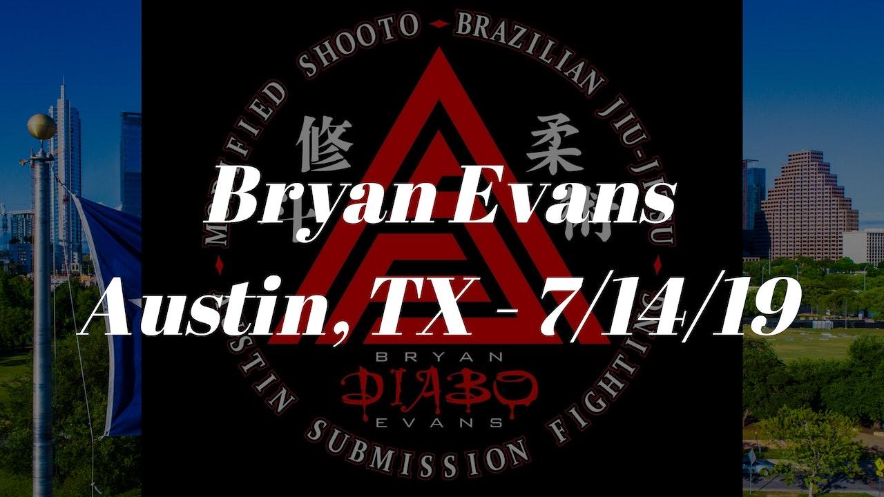 Bryan Evans Seminar