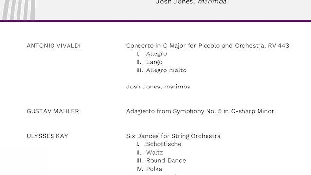Program Notes: Vivaldi Meets the Marimba