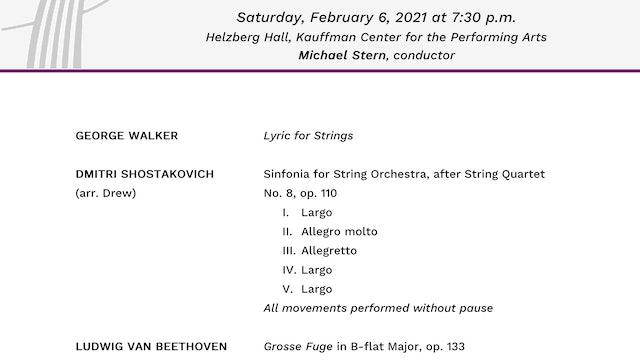 Program Notes: Beethoven's Grosse Fuge
