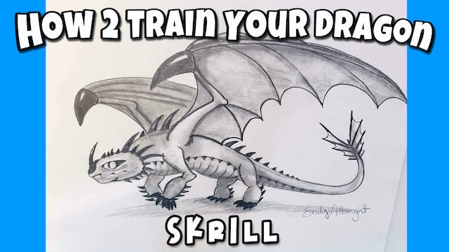 Learn How to Draw HTTYD Skrill Dragon