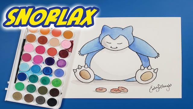 """""""SNORLAX"""" Pokemon Series - Watercolor"""