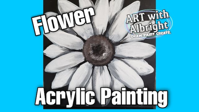 Learn how to Acrylic Paint a Beautiful Flower