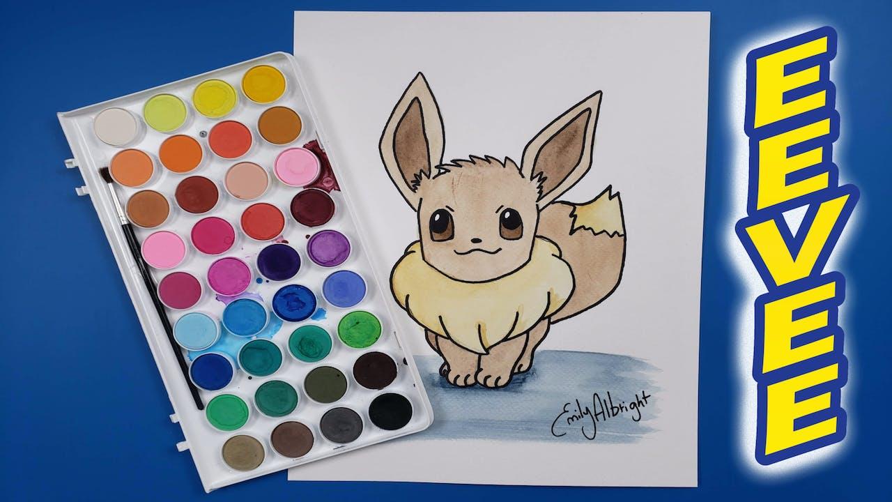"""EEVEE"" Pokemon Series - Watercolor"
