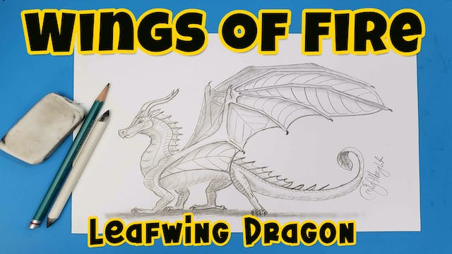 Learn How to draw - Leafwing Wings of Fire Dragon