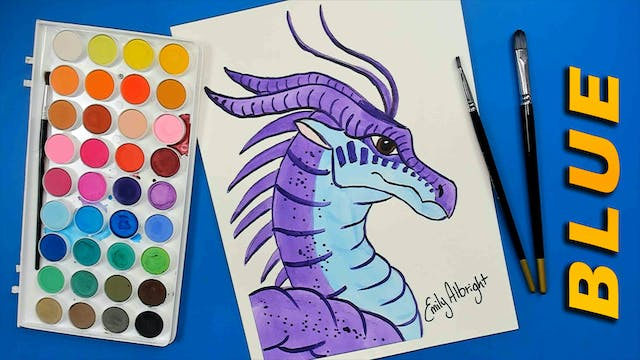 BLUE Wings of Fire Dragon Series - Watercolor