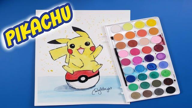 """PIKACHU"" Pokemon Series ~ Artist Emily Albright"