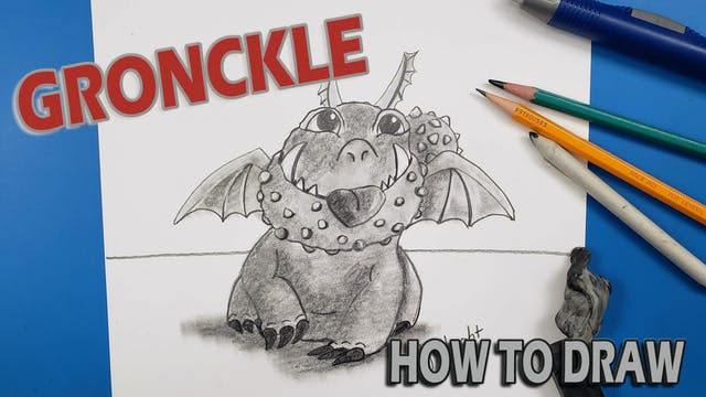"""Draw """"GRONCKLE"""" How To Train Your Dragon"""