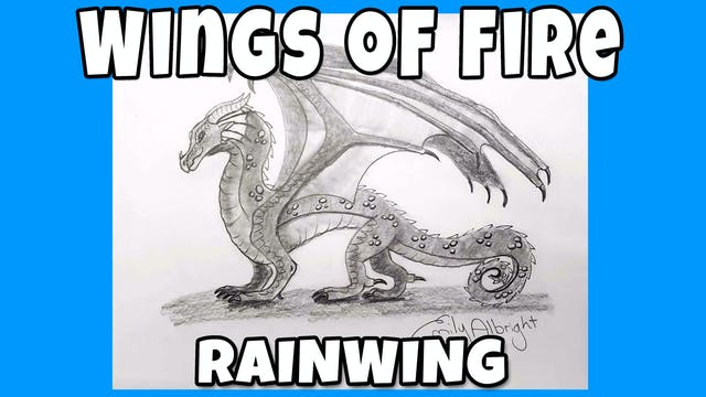 How to Draw RAINWING - Wings of Fire Dragon