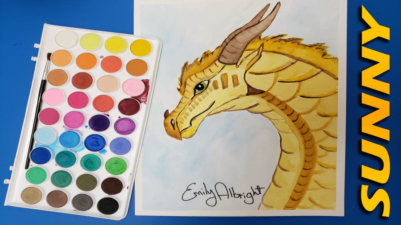 """""""SUNNY"""" Wings of Fire Dragon Series - Watercolor"""