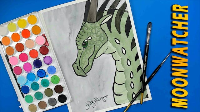 MOONWATCHER Wings of Fire Dragon Series Watercolor