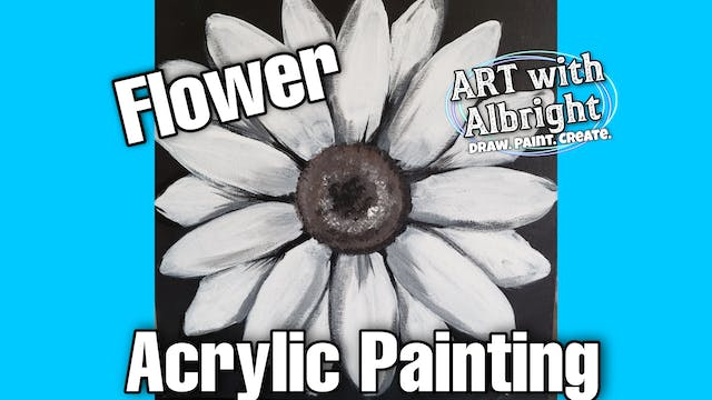 Learn How to Paint a Giant Acrylic Flower