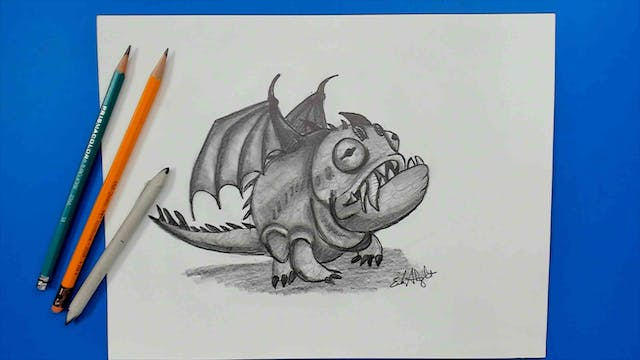 Learn how to draw a Hobgobbler Dragon HTTYD