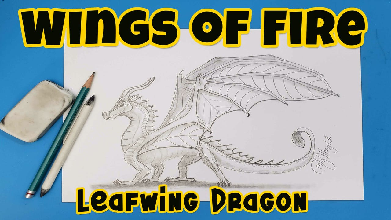 Learn How to DRAW a Leafwing Dragon