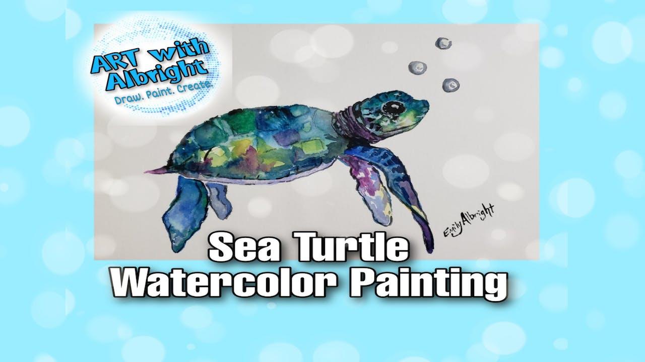 Paint ~ Watercolor Sea Turtle
