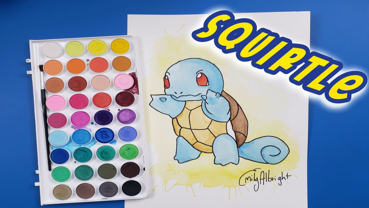 """""""SQUIRTLE"""" Pokemon Series - Watercolor"""