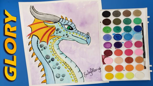 """""""GLORY"""" Wings of Fire Dragon Series - Watercolor"""