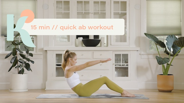15 Minute Quick Ab Workout