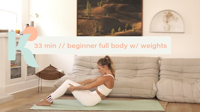 33 Minute Beginner Full Body with Weights