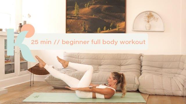 25 Minute Beginner Full Body Workout