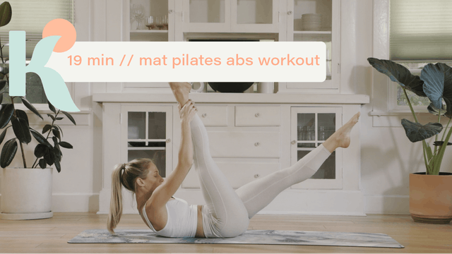 19 Minute Mat Pilates Abs Workout