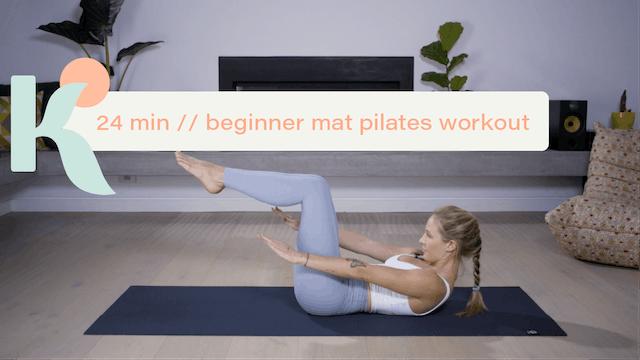 24 Minute Beginner Mat Pilates Workout