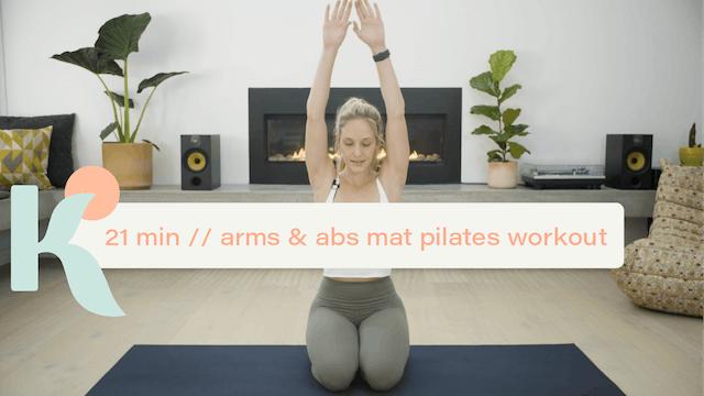 21 Minute Arms & Abs Mat Pilates Workout