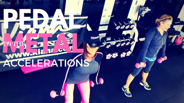 X PEDAL TO THE METAL WORKOUT, FIT HIIT, ABS WEIGHTS, MAT 45M