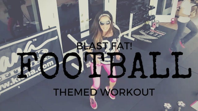 X FIT HIIT FOR ALL LEVELS!  SUPER BOWL FOOTBALL THEMED WORKOUT WEIGHTS SLAM BALL 45M 101616101014