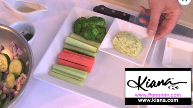 Fit Cooking Cucumber Salad & Edamame Hummus