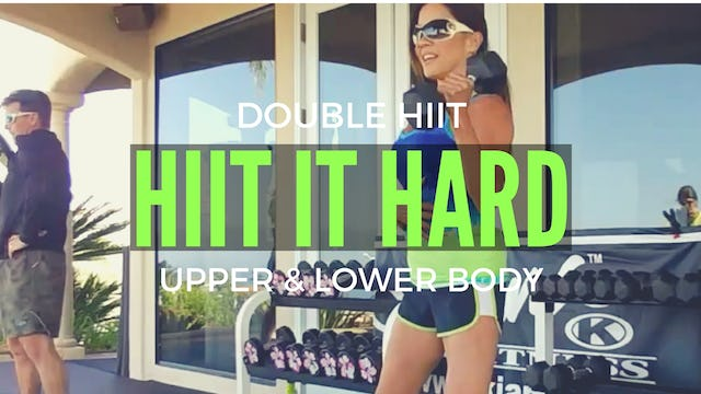 X HIIT IT HARD! UPPER & LOWER BODY HIIT + 150 REP AB CHALLENGE 40M WEIGHTS MAT SLAM BALL