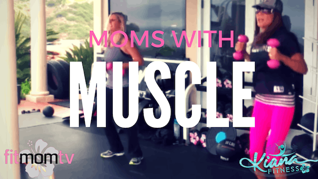 X- MOMS WITH MUSCLE! SLAM IT! STRETCH...