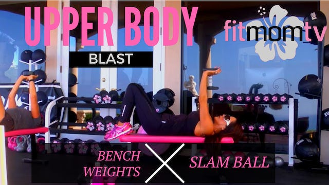 X BUFF BABE & POLICE WOMAN UPPER BODY BLAST 35M WEIGHTS BENCH SLAM BALL