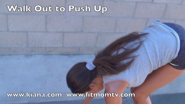 Exercise Walk Out Push Ups