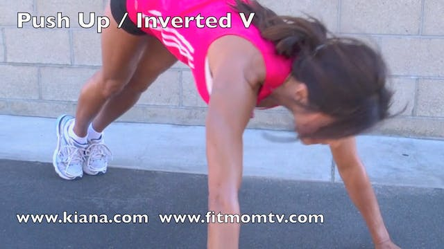 Exercise Push Up Inverted V