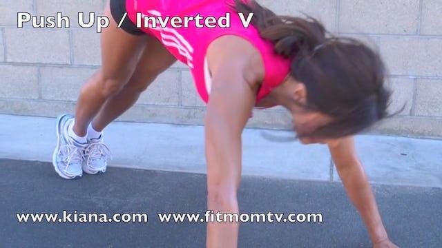 Exercise Push Up Inverted V