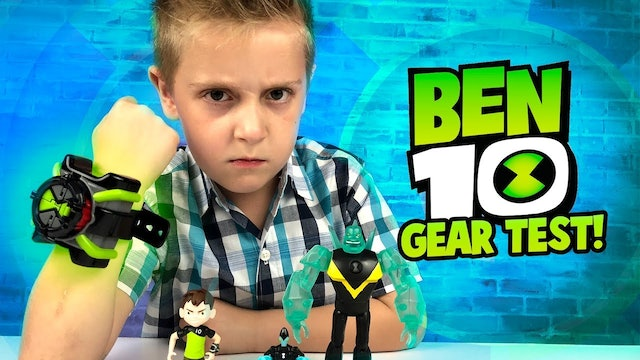 Ben 10 Gear Test and Toy Unboxing!
