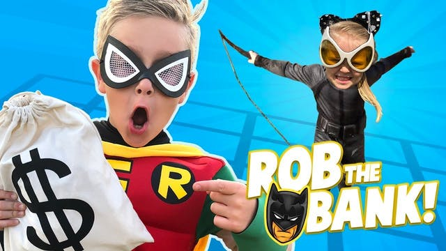Rob the Bank: Robin and Catwoman