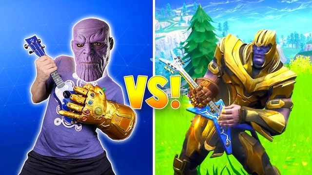 THANOS FORTNITE DANCE CHALLENGE In Real Life!