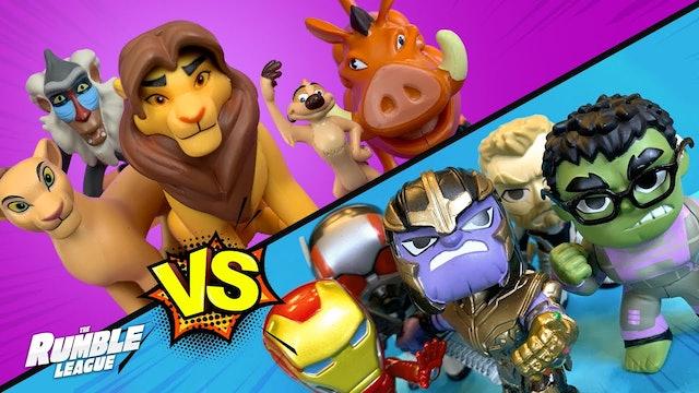 RumbleMania Tag Tournament Part 4: Lion King vs Avengers End Game