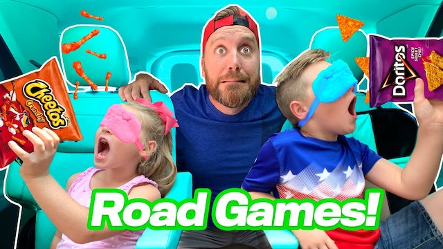 Road Games!!! Blindfolded Chip Challenge to the Beach
