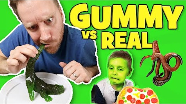 Gummy Food vs Real Food Challenge Part 1